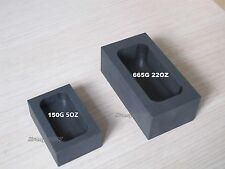 High Purity Graphite Casting Melting Ingot Mold 5OZ or 22OZ for Gold & Silver