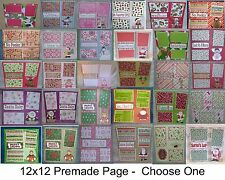 """""""Christmas""""-SET 4 - Premade Page 12x12-Choose One-Just Add Pics!"""