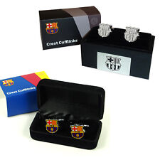 FC Barcelona Official Soccer Gift Boxed Executive Crest Cufflinks