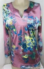 Uniti Womens Juniors Plus Size Shirt Top Pink Stretch Blouse Size 1X New