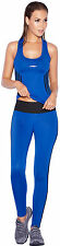 Fashion Women's Running Clothes Gym Outfit Exercise Set Racerback Top Tights S