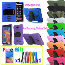 Shockproof Heavy Duty Armor Hard Case Cover For iPhone Tablet iPad Galaxy Tab