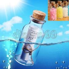 10/20/30X 2ml 16x35mm Small Tiny Clear Empty Glass Bottle Message Vial With Cork