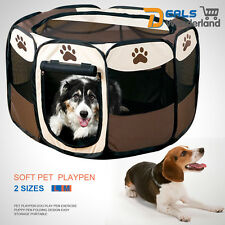 8 Panel Portable Puppy Dog Pet Cat Playpen Closure Cage Kennel Tent Play Pen