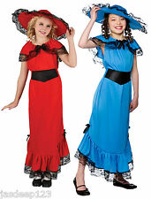 Victorian Girl Lady Fancy Dress Costume Dress Up Outfit World Book Day Child