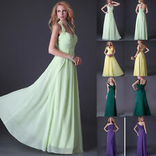 Sexy New Chiffon Evening Formal Prom Party Ball Gown Bridesmaid Dress HOT Styles
