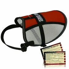 Flow-tec Mesh Service Dog Vest w/ 5 Free Service Dog Info Cards - Made in USA