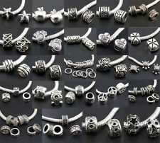 Wholesale MIX Design Tibet Silver Spacer Beads Fit Charms European Bracelet