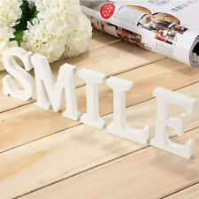 8cmX1.2cm Thick Wood Wooden White Letters Alphabet Christmas Gift Decor JUST