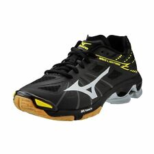 Mizuno Men's Wave Lightning Z Volleyball Shoes - Black & Silver - 430187