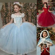 Baby Kid Girl Birthday Party Princess Costume Dress Outfit+Cape Gift Set Age3-8