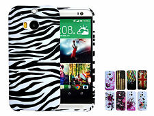 Anti-shock Silicone Rubber TPU  Pattern Phone Back Case Cover for HTC one M8