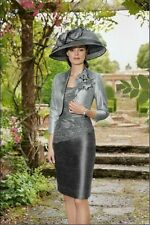 New Silver the Mother of the Bride formal party dress + jacket free Elegant 2015