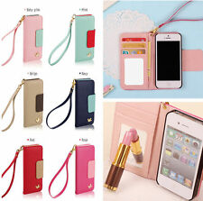 New Wallet Card Holder PU Leather Flip Case Cover for Galaxy S3 I9300 S4 I9500