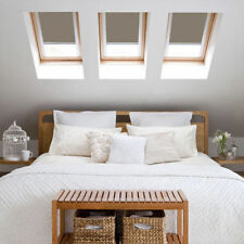 VELUX STYLE BLACKOUT ROOF BLINDS LIGHT BROWN P04 KEYLITE 07B SIZE