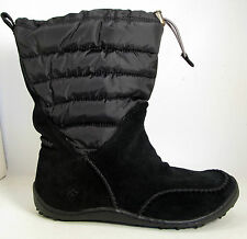 NEW Columbia Minx Moccasin Waterproof -25°F Omni Heat Boots Womens Black