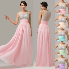 Beaded Sequin Sheer Bridesmaid Semi Formal Evening Prom Party Gowns Long Dresses