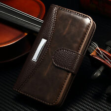 For iPhone 4 4S 5 5S 6 Plus Luxury Leather Case Magnetic Flip Wallet Stand Cover