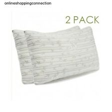 2 Pack Memory Foam Bamboo Gel Pillow May Reduce Snoring Migraines Back Neck Pain