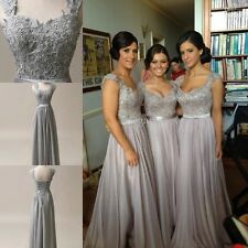 New Stock Gray mother of the bride dress Evening Formal wedding Party DressES