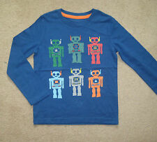 Mini Boden Robot T Shirt Top 1.5-12 years applique & print