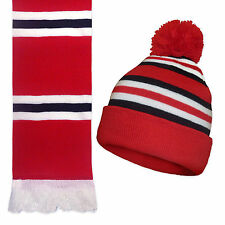 Manchester United Colours Soccer Gift Retro Knitted Hat & Scarf Set