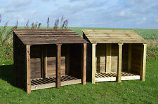 DOUBLE 4FT OUTDOOR WOODEN LOG STORE ***CLEARANCE STOCK***