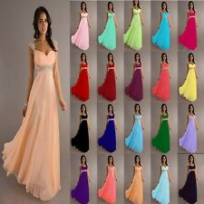 New Chiffon Cap Sleeve Formal Prom Party Bridesmaid Evening Dress Stock Size6-18
