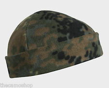 Helikon German army flecktarn fleece beenie hat camo winter watch cap one size