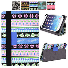 """D Tribal Canvas Adjustable Folding Folio Cover & Touch Guard fits 7"""" Tablet-s"""