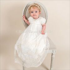 """Baby Beau & Belle """"Clementine"""" girls ivory Vintage Christening and Baptism gown"""