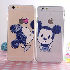 New Ultra Thin Cute Disney Lovers Soft TPU Clear Case Cover for iPhone 6 Plus 5S