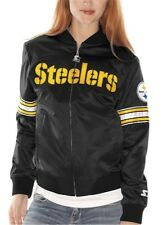 WOMEN'S NFL Pittsburgh Steelers Women's Starter Black Satin Jacket