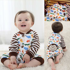 0-1 years Spring summer boys infant monkey print clothes romper outfit baby suit