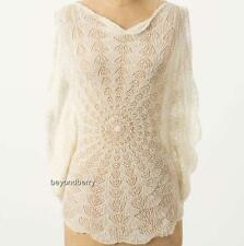 NEW Anthropologie Far Away from Close Remolino Lace Pullover  Size S