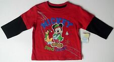 New baby boys Disney Mickey Mouse sled champ Pluto mock thermal toddler infant