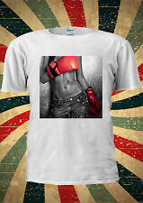 Sexy Boxer Girl Red Glove Tumblr Fashion T Shirt Men Women Unisex 1648