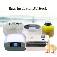 7,10,12,60 Semi Automatic Egg Incubator Poultry Chicken Quail Thermostat + Gift