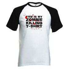 This Is My Zombie Killing Baseball T-Shirt S - 2XL New HORROR UNDEAD DEAD