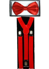 KID SUSPENDERS and BOW TIE COMBO SET Adjustable Boys Girls Toddlers