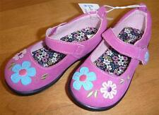 Toddler Girls Koala Kids Pink Suede Mary Jane Shoes Size 6 10 Flowers pre-school