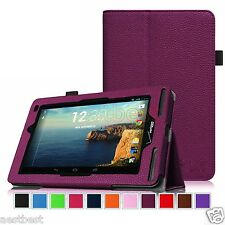 "Leather Case Cover For 7"" 7-inch Verizon Ellipsis 7 4G LTE Tablet DZPHW"