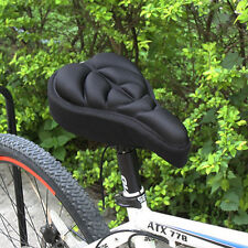 Cycling Bike Silicone Saddle Seat Cover Gel Cushion Soft Comfortable Pad Useful