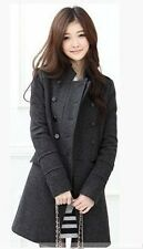 2015 New Women's Slim Double breasted Wool Trench Coat Winter Warm Dress Jacket