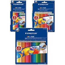 Staedtler Noris Club Water Color Pencils - box of 12 / 24 / 36 Colour Pencil