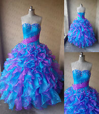 Charming Quinceanera Dress Ball Gown Beading Homecoming Prom Dresses Size2--16