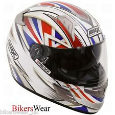 BOX BZ-1 Patriot Union Jack Full Face Motorcycle Helmet !!!!!!MASSIVE SALE!!!!!!