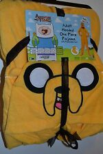 Fleece JAKE Hooded Footed Pajamas Costume ADVENTURE TIME OFFICIALLY LICENSE