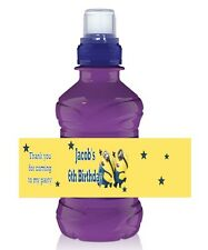 6 x Personalised Fruit Shoot / Water Bottle Label Wrapper - Minions