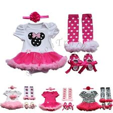 Newborn Infant Baby Girls Outfits Top Tutu Romper Birthday Dress Up Clothes Sets